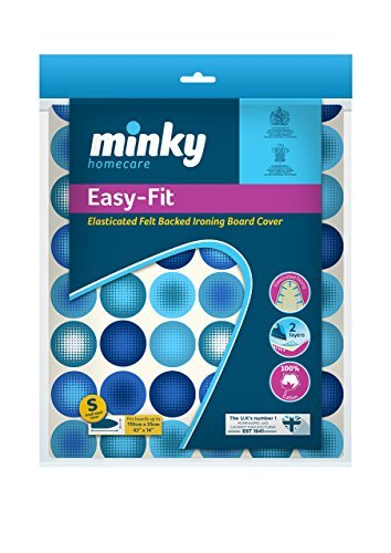 Minky Easy Fit Ironing Board Cover 110 x 35 cm Elasticated Foam Back