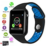 Smart Watches, JACSSO Touch Screen Bluetooth Smartwatch with Camera, Andriod Smart Watch/Sport Smart Wrist Watch Compatible Android Samsung LG Phones iOS iPhone Men Women (Included 16G Memory Card)