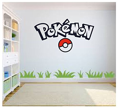 Pokemon Go Wall Art, Pokemon Wall Art, Wall Sticker Decal, Kids Room, Bedroom Wall Art