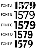 Mailbox Numbers Sticker Decal Vinyl Custom Personalized Customized Number Text Lettering