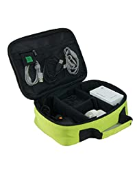 Travel Electronics Accessories Organizer Carrying Case Holder Bag (Green)