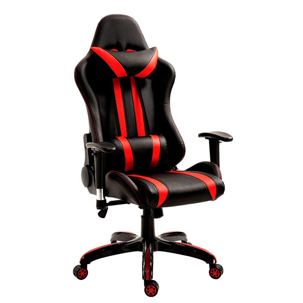 XUE Computer Chair, Home Office Chair Internet Cafe Athletic LOL Racing Chair Game E-Sports Chair High Back Large Seat Gaming Chair 360 Degree Swivel Lever ...
