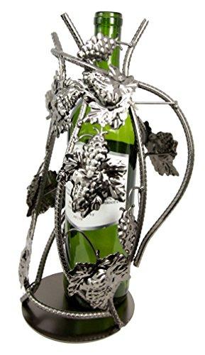 Atlantic Collectibles Grape Vineyard Nursery Graft Hand Made Metal Wine Bottle Holder (Metal Grapes Wine Bottle Holder)