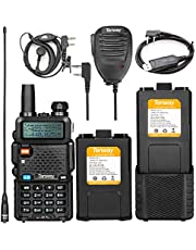 Tenway UV-5R Pro Amateur Radio with More 3800mAh Battery and Handheld MIC and NA-771 Antenna and USB Programming Cable