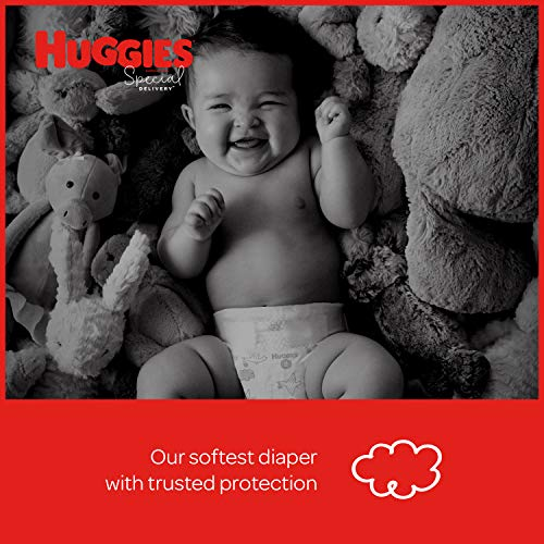 Huggies Bundle - Special Delivery Hypoallergenic Baby Diapers, Size 4, 100 Ct, One Month Supply & Special Delivery Baby Wipes, Unscented, 3 Flip-Top Packs (168 Wipes Total)