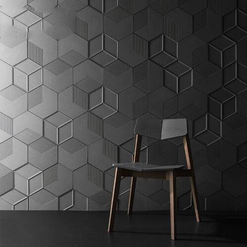 Pinkie Tm Beautiful hexagon silicone wall molds silicone rubber molds forms 3D decorative wall panels
