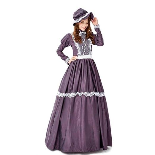DUQA Disfraz de Fiesta Medieval para Mujer, Disfraz de Granja ...