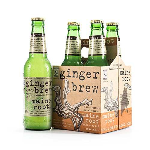 Maine Root Hand Crafted Ginger Brew Soda, 12 fl oz (24 Glass Bottles)