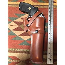 """Smith & Wesson 586 686 66 19 10 6"""" Ruger GP100 Leather Field Holster"""