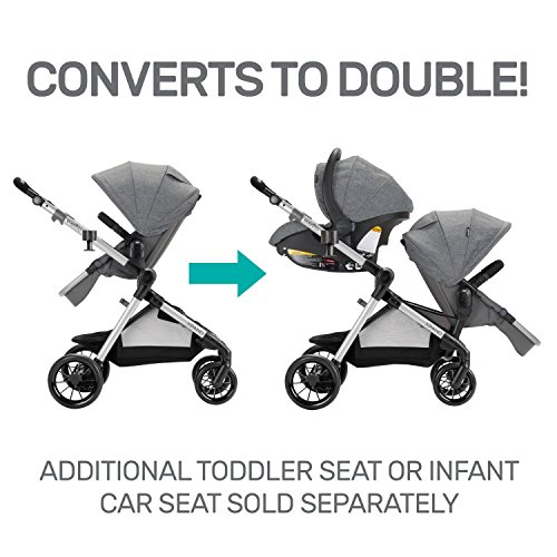 51vm88PJujL - Pivot Xpand, Modular Baby Stroller, Converts To Double Stroller (Additional Toddler Seat Not Included), Percheron Gray