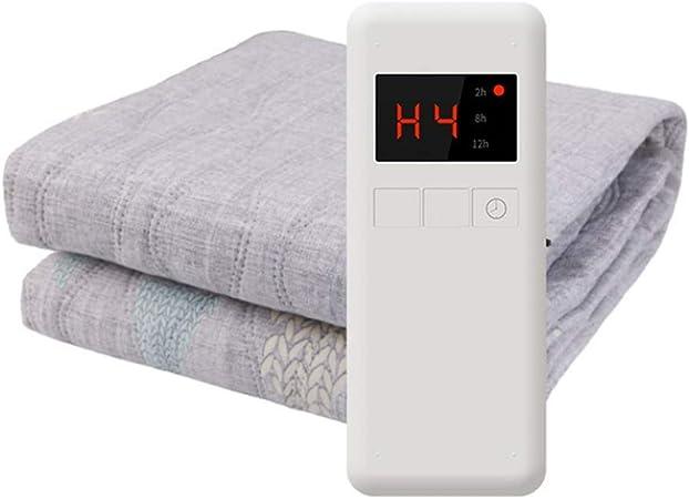 Cajolg Manta eléctrica Manta termica,2 Personas, Temperatura Ajustable Esterilla electrica Manta,Apagado automático, Lavable Electric Blanket calientacamas,180 * 180cm: Amazon.es: Hogar