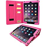 iPad 3 & 4 Case, Snugg™ - Executive Smart Cover With Card Slots & Lifetime Guarantee (Hot Pink Leather) for Apple iPad 3 & 4