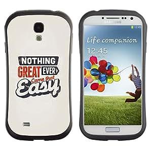 """Pulsar iFace Series Tpu silicona Carcasa Funda Case para SAMSUNG Galaxy S4 IV / i9500 / i9515 / i9505G / SGH-i337 , Gran Came Fácil Nunca cita de motivación"""""""