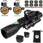 XOPin Rifle Scope Combo C4-16x50EG Hunting Dual Illuminated with Red Laser Sight 4