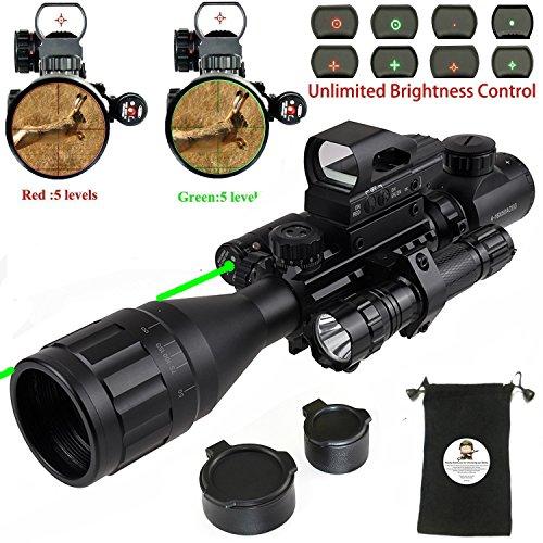 XOPin Rifle Scope Hunting Combo C4-16x50EG Dual Illuminated with Green