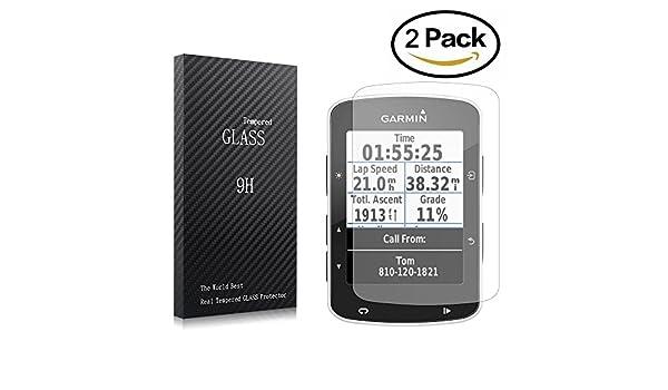youniker 2 Pack Garmin Edge 520 Protector de pantalla de vidrio ...