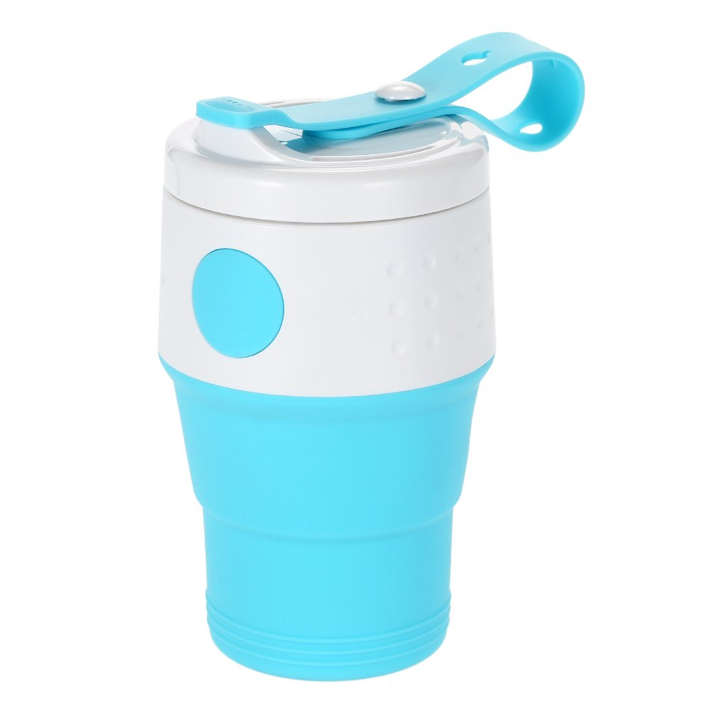 Collapsible Cups Outdoor Sport Bottle Chic Foldable Bag Folding Plastic Water