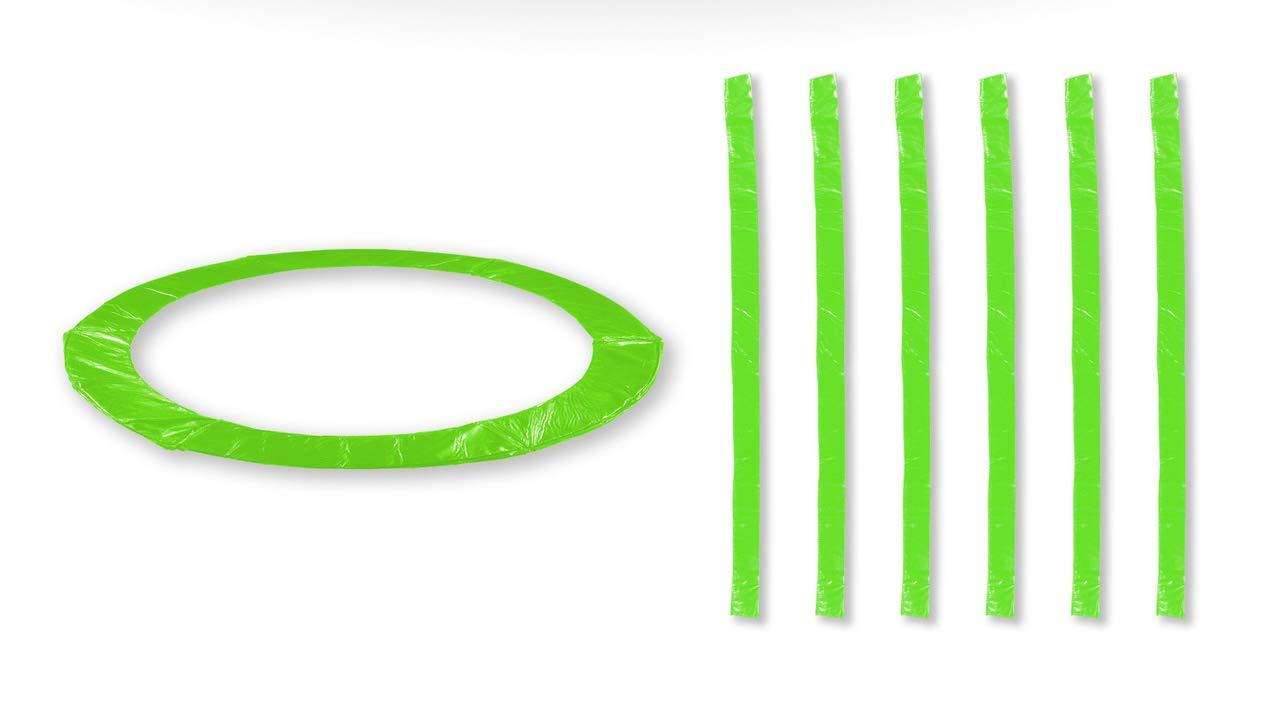 Vert Pomme 10FT 6perches JUMP4FUN Accessoires Trampoline Exterieur Deluxe 10FT, 12FT, 13Ft ou 14FT Pack Relooking Choix Couleurs, Tailles et Nombre de Perche
