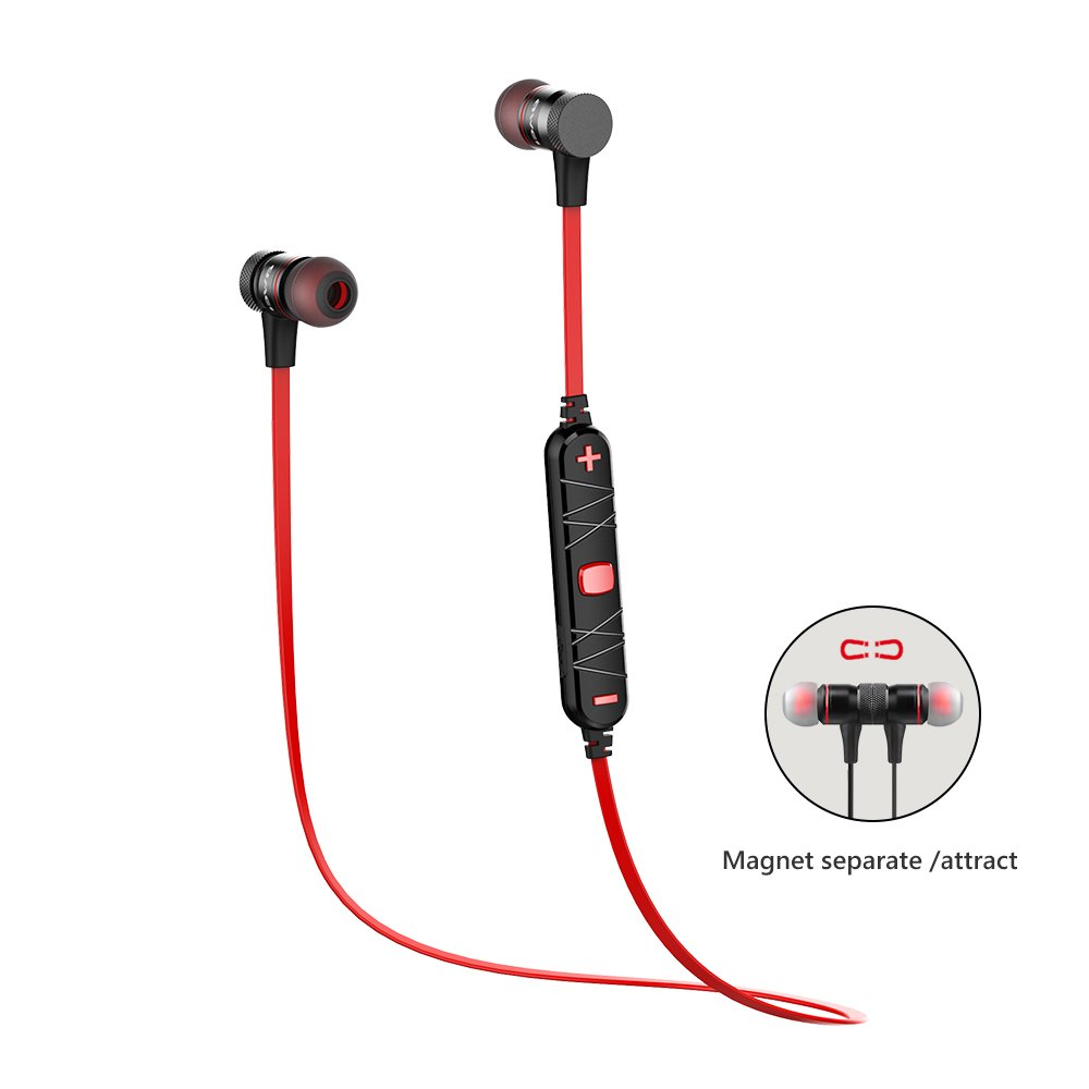 Wireless Headphones AWEI Bluetooth Earphones Sport Earbuds in Ear Headset Sweatproof for Running 6 Hours Playtime, Bluetooth 4.2, Magnetic, Noise Cancelling Mic