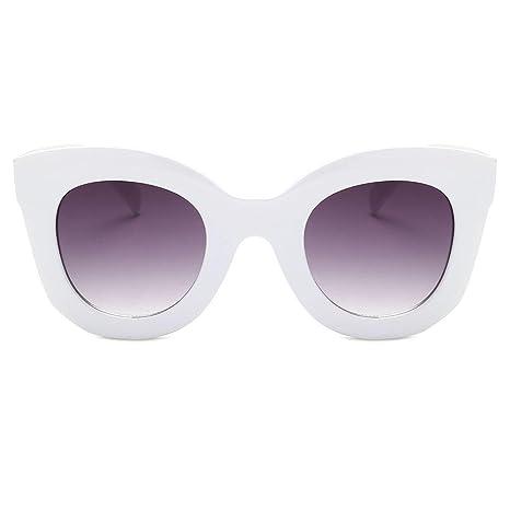 AOLVO Gafas de Sol Mujer, Estilo Vintage, con Forma Cuadrada, Gafas de Sol