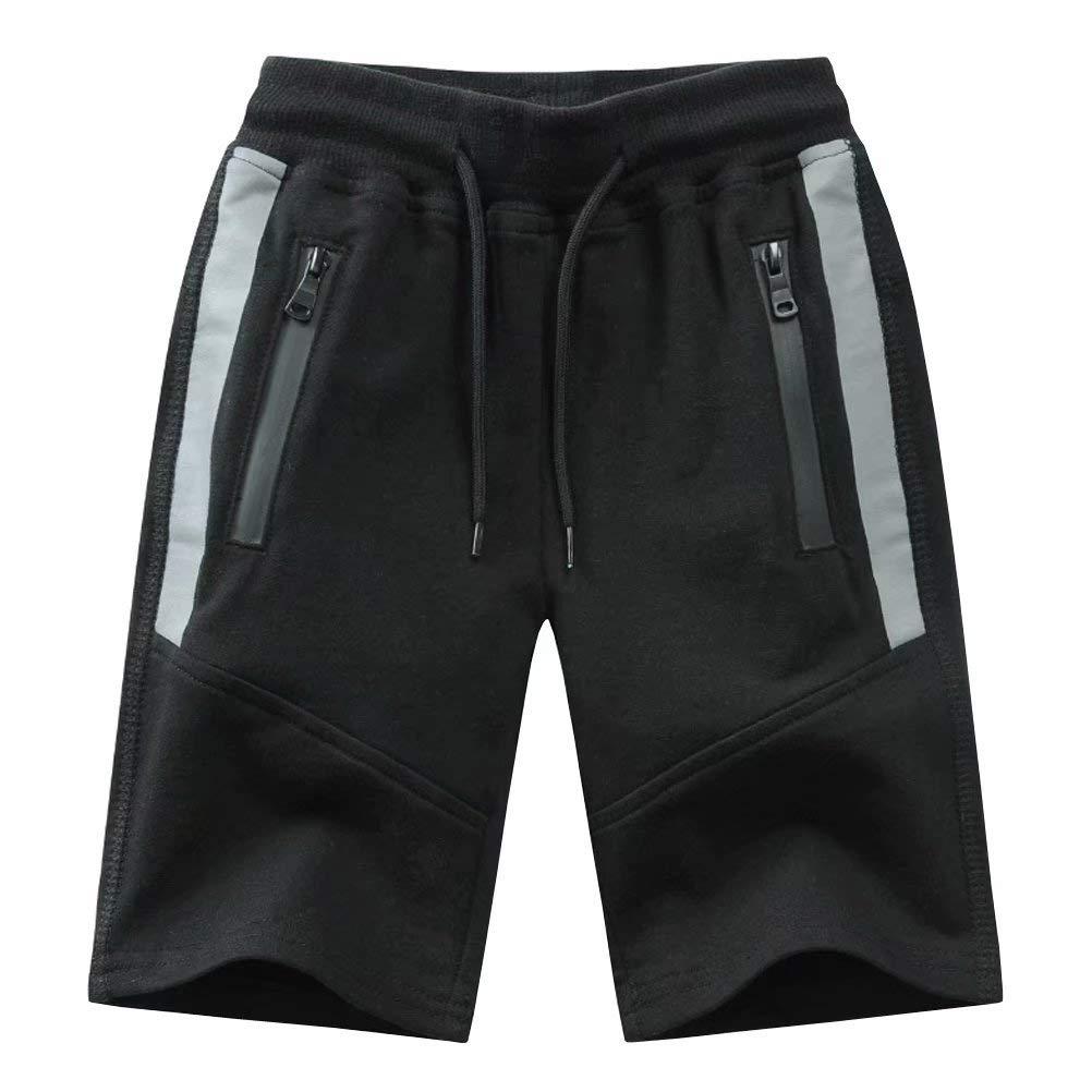 Wxian Boys Zip Pocket Running Athletic Shorts