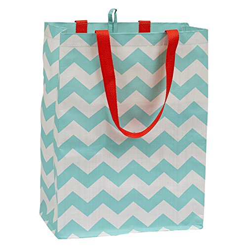 DII Reusable Shopping Bag, For Farmers Markets, Grocery Shopping, Crafts, Travel, Sewing & Everyday Use, Set of 3 - Chevron