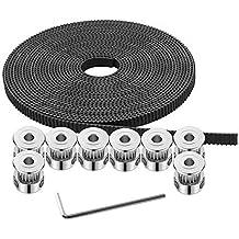 Fevas Aluminum Alloy Single Groove Belt Pulley Main Shaft Motor Pulley Model Transmission Wheel Small Belt Pulley 40 Bore Diameter: 15mm