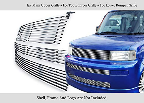 APS 304 Stainless Steel Billet Grille Combo Fits 03-07 Scion XB - Front Grill Xb Scion