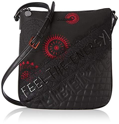 Desigual REP COMUNIKA KAUA - Bolso para mujer, color Negro, talla 4x28.5x26.2 cm (B x H x T)