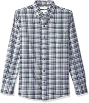 Amazon Brand - Goodthreads Men's Slim-Fit Long-Sleeve Plaid Brushed Heather S