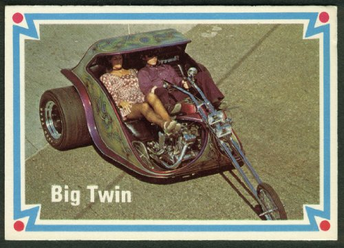Tom McMullen Harley-Davidson Big Twin trike motorcycle trading card (Big Twin Cycles)