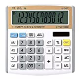 ZHAS Solar Calculator, 12-digit Digital Electronic Calculator, Desktop Calculator for Office/School/Store