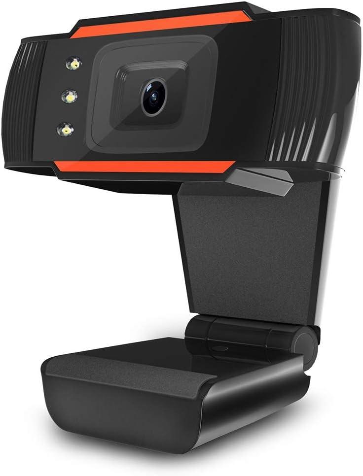 FEENGG Webcam 1080P HD PC, Webcam avec Microphone, Webcam 30FPS USB 2.0, Plug and Play, Compatible avec Windows XP / 7/8/10, Mac, Ordinateur Portable