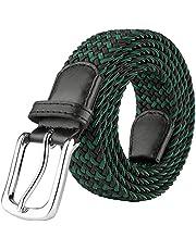 JUKMO Cinturón elástico trenzado, cinturón tejido elástico en caja de regalo