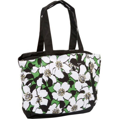 High Sierra Shelby Tote, Flowers/Black, 16x14x5-Inch, Bags Central