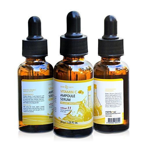 DearDerm Vitamin C Serum Korean Anti-Wrinkle Skin Formula Maintain moisturizer Ultimate Skin Heath 100% Toxic & Chemical-Free 30g/1.05oz