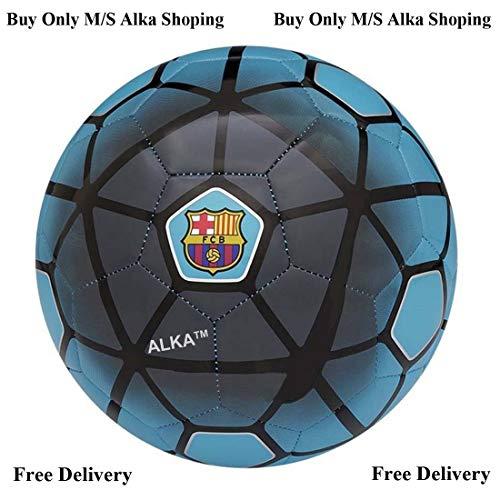 ALKA FCB barcelona light PU Football With Pin, Size 5,  Blue