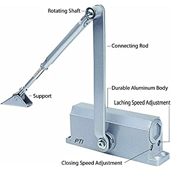 BEST SELLER Automatic Door Closer With Hydraulic Hinge - Slowly Closes and Shuts Door - Great Self Closing Door For Residential/Commercial Use  sc 1 st  Amazon.com & Cal-Royal 430P Commercial Grade Door Closer - - Amazon.com
