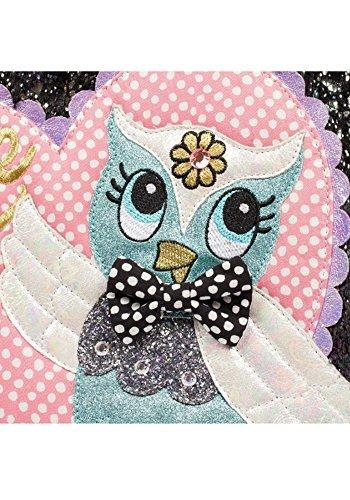 Irregular Choice What A Hoot Owl Love Faux Fur Novelty Handbag (One Size, Black & Pink) by Irregular Choice (Image #3)