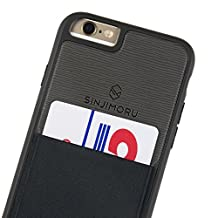 iPhone 6 / 6s Wallet Case, Sinjimoru iPhone 6 / 6s Protective Case with Card Holder / iPhone 6 / 6s Case with Card Wallet. Sinji Pouch Case for iPhone 6 / 6s, Black.