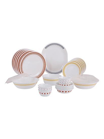 Corelle Livingware Plus Spot On Glass Dinner Set 30-Pieces Multicolour  sc 1 st  Amazon.in & Buy Corelle Livingware Plus Spot On Glass Dinner Set 30-Pieces ...