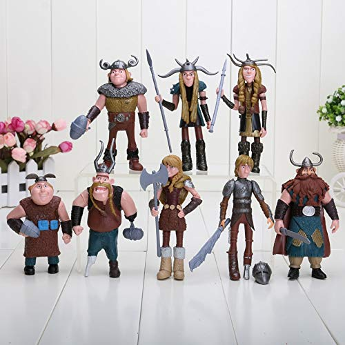 - VIETXA 8Pcs/Set 10-13Cm How to Train Your Dragon 3 Figurines PVC Action Figures Classic Toys Kids Gift for Children -Complete Series Merchandise