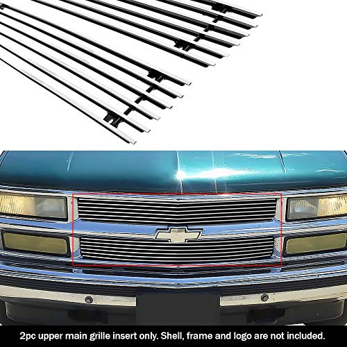 (APS Fits 94-99 Chevy C/K Pickup/Suburban/Tahoe Main Upper Billet Grille #C65706A)