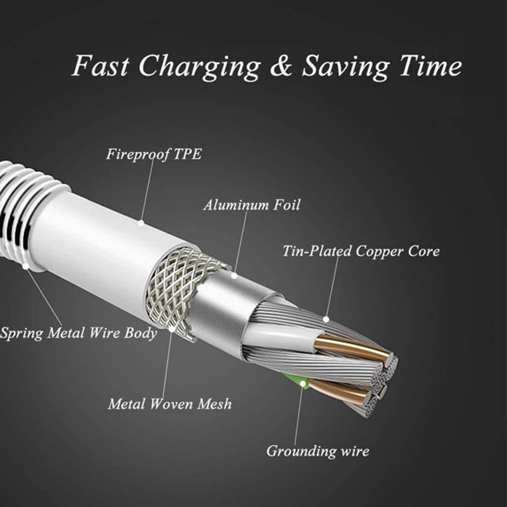 Velvet Type-C Charger Cord Power Wire USB-C Fast Charge Compatible with LG K51 3ft Metal USB Cable for K51 Stylo 6 Phones Velvet Stylo 6 Models