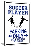 AllPosters Soccer Player Parking Only Stretched Canvas Print, 36 x 24 in