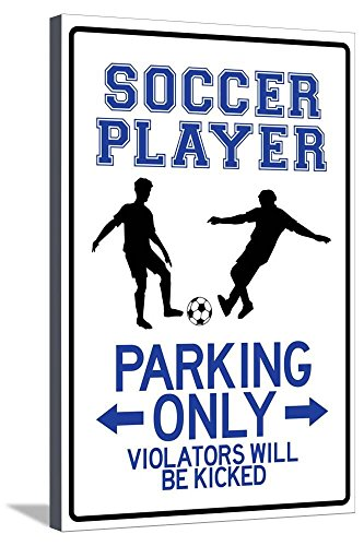 AllPosters Soccer Player Parking Only Stretched Canvas Print, 36 x 24 in by AllPosters