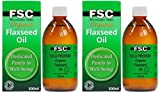 (2 Pack) - FSC - Organic Flaxseed Oil | 500ml | 2 PACK BUNDLE