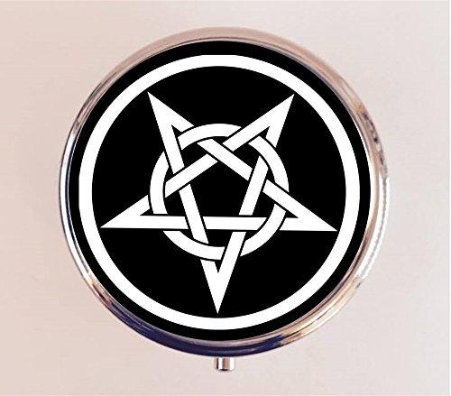 Satanic Pentagram Pillbox Case Holder Trinket Box Occult Satanism Devil Magick Heavy Metal (Pentagram Trinket)