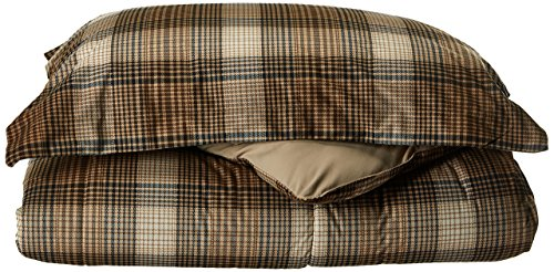 Comforter Size Twin Plaid - Woolrich Lumberjack Twin Size Bed Comforter Set - Brown, Khaki, Farmouse, Rustic Plaid - 2 Pieces Bedding Sets - Softspun Flannel Bedroom Comforters