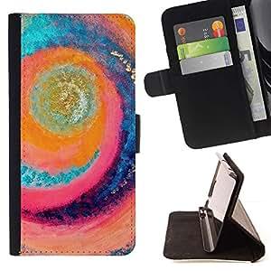 Momo Phone Case / Flip Funda de Cuero Case Cover - Surf Sun Remolino Playa Aguamarina - Samsung Galaxy S6 Active G890A